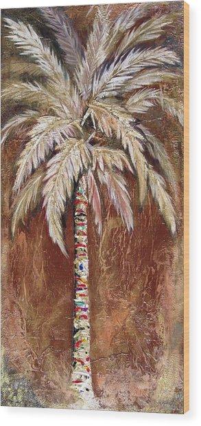 Chocolate Palm Wood Print