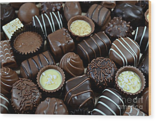 Chocolates Wood Print