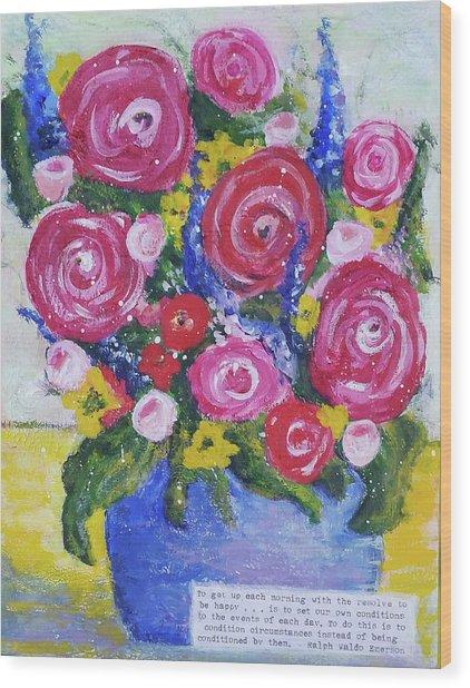 Choice Bouquet Wood Print