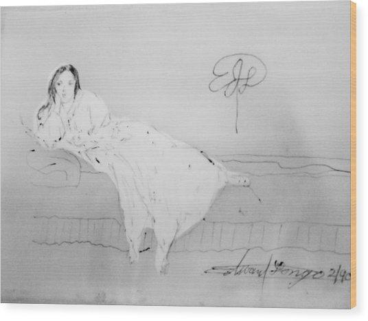 Chopin's Woman Wood Print