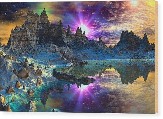 Chosen Hills Sunrise Wood Print by David Jackson