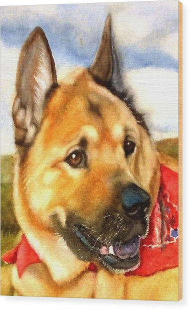 Chow Shepherd Mix Wood Print
