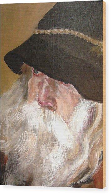 Chris' Beard Wood Print