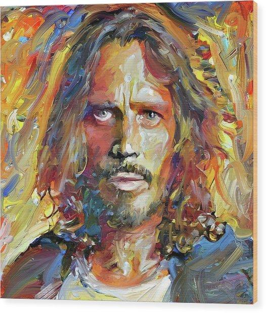 Chris Cornell Tribute 2017 Portrait Wood Print