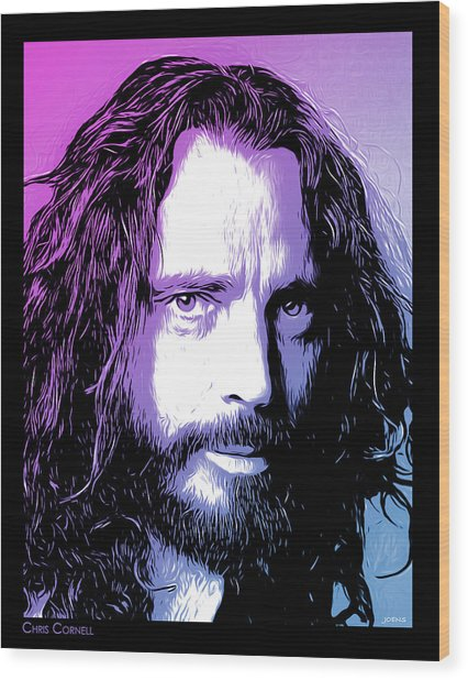 Chris Cornell Tribute Wood Print