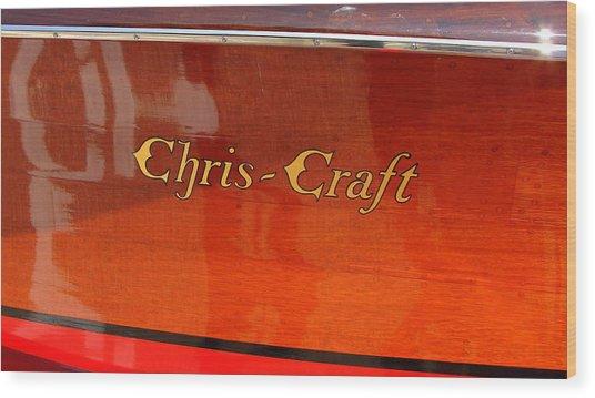 Chris Craft Logo Wood Print