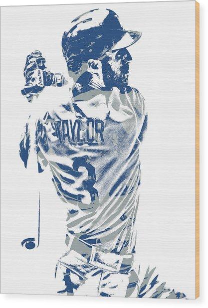 Chris Taylor Los Angeles Dodgers Pixel Art 5 Wood Print