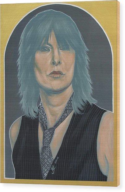 Chrissie Hynde Wood Print