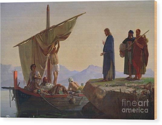 Christ Calling The Apostles James And John Wood Print