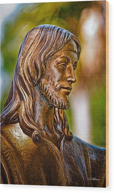 Christ In Bronze Wood Print