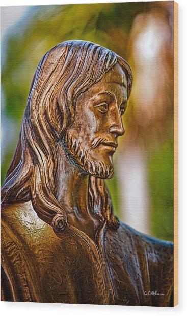 Christ In Bronze Wood Print
