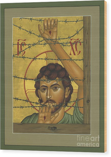 Christ Of Maryknoll - Rlcom Wood Print