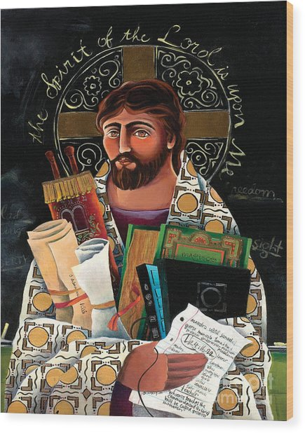Christ The Teacher - Mmctt Wood Print