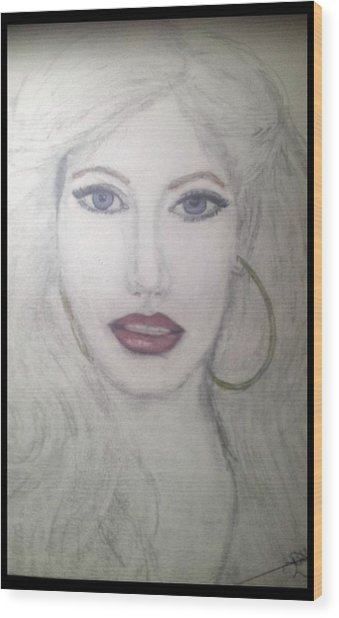 Christina Aguilera Wood Print