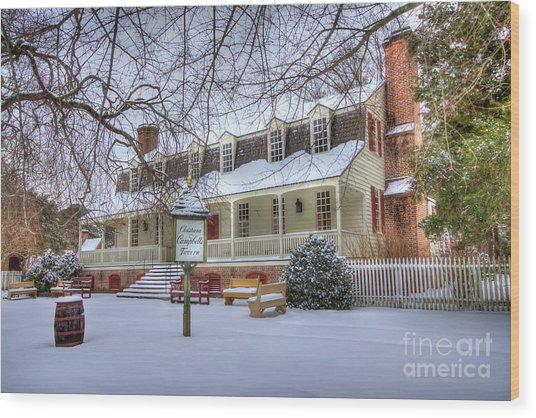 Christina Campbell Tavern Colonial Williamsburg Wood Print