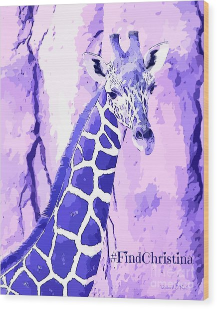 Christina's Giraffe Wood Print