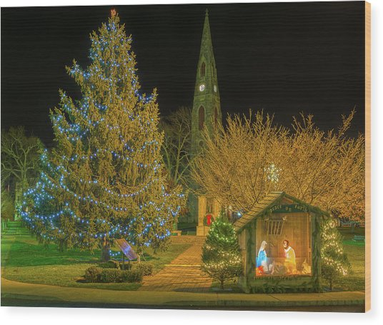Christmas At The Historic District Of Goshen New York Wood Print