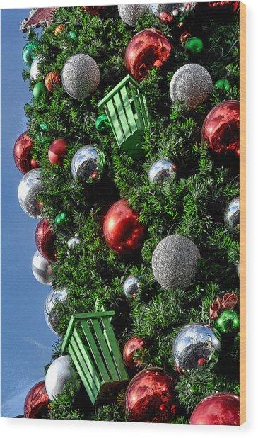 Christmas Balls Wood Print