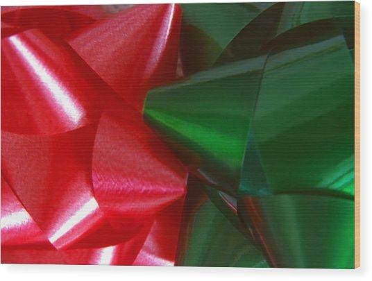 Christmas Bows 1 Wood Print by Steve Ohlsen