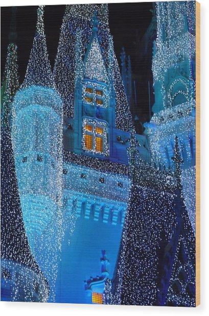 Christmas Castle Wood Print