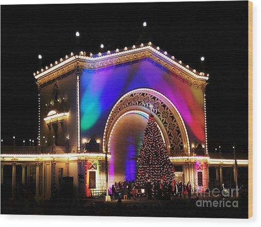 Christmas Celebration In San Diego  Wood Print