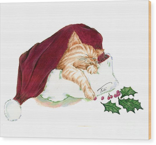 Christmas Dreamer Wood Print by Tobi Czumak