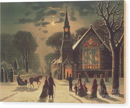 Christmas Eve Wood Print