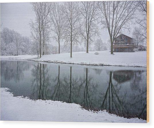 Winter Landsape Wood Print