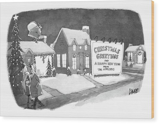 Christmas Greetings From The Applebys Wood Print