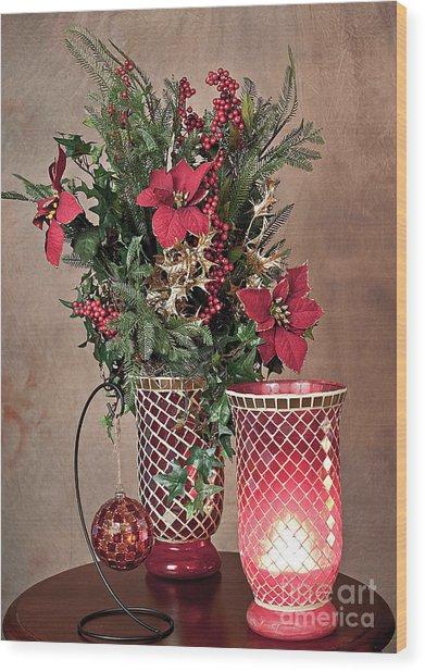 Christmas Jewels Wood Print