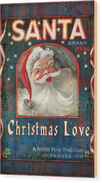 Christmas Love Wood Print