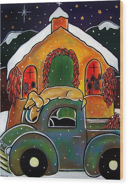 Christmas Mass Wood Print