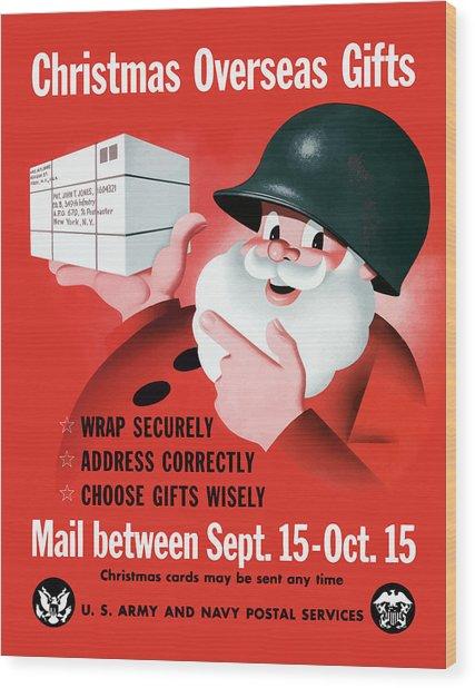 Christmas Overseas Gifts -- Ww2 Wood Print