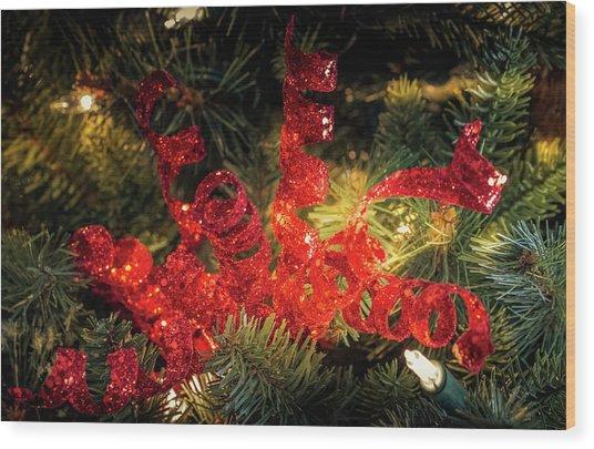 Christmas Red Wood Print