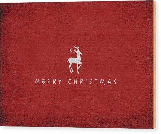 Christmas Series Christmas Deer Wood Print