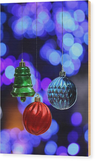 Christmas Sparkle Wood Print