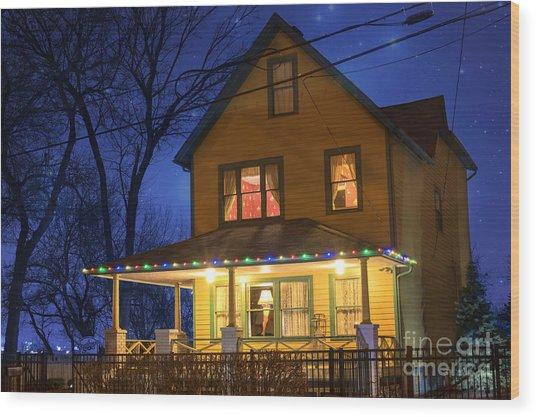 Christmas Story House Wood Print