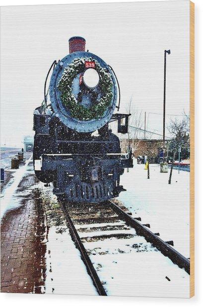 Christmas Train Wood Print
