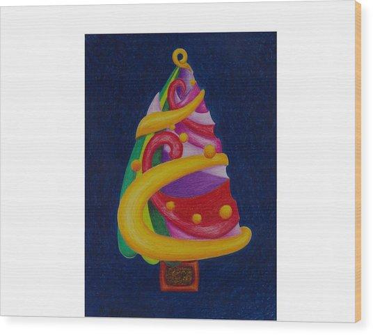 Christmas Tree No. Two Wood Print by Rick Ahlvers