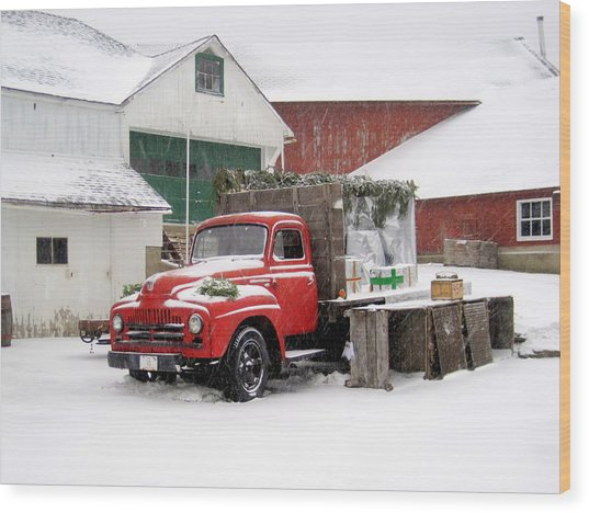 Christmas Truck 2010 Wood Print
