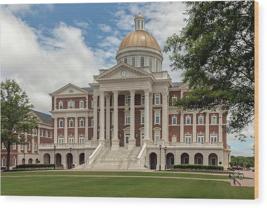 Christopher Newport Hall Wood Print