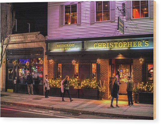 Christopher's And The Toad Cambridge Ma Porter Square Wood Print