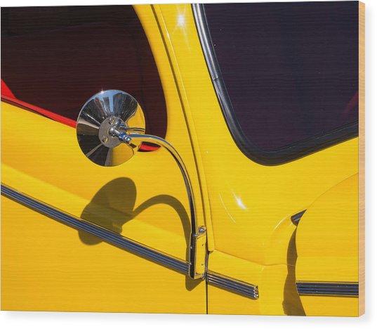 Chrome Mirrored To Yellow Wood Print