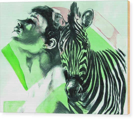 Chronickles Of Zebra Boy   Wood Print