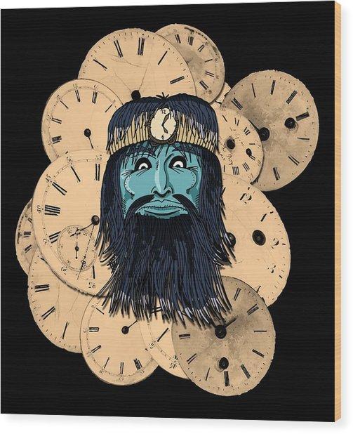 Chronos Wood Print