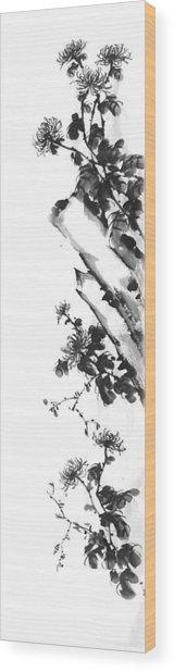Chrysanthemum Stone 2 Wood Print by Chang  Lee
