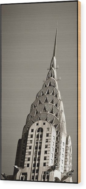 Wood Print featuring the photograph Chrysler Building New York City by Juergen Held