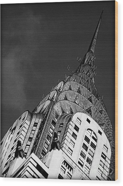 Chrysler Building's Apex Wood Print