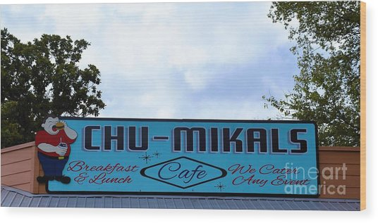 Chu - Mikals - Friendly Austin Texas Charm Wood Print