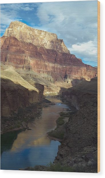 Chuar Butte Colorado River Grand Canyon Wood Print